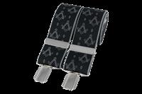 Masonic Silver on black 35mm Braces