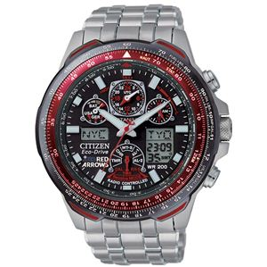 This Skyhawk A.T Titanium watch features Atomic Timekeeping with Radio Controlled accuracy